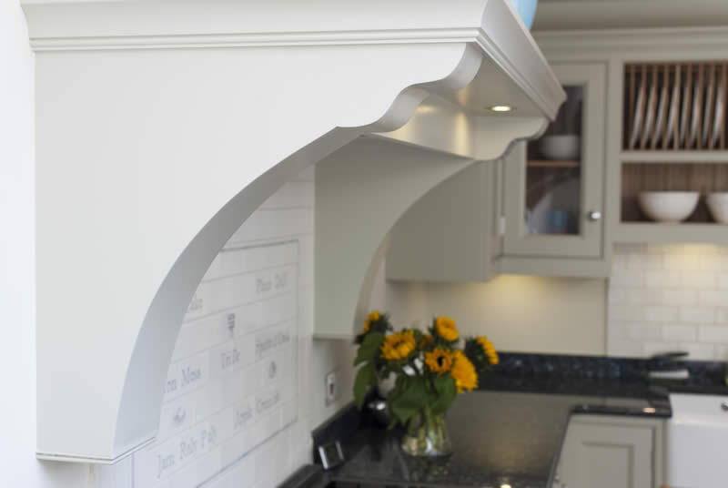 Cooker Hood In Painted Kitchen