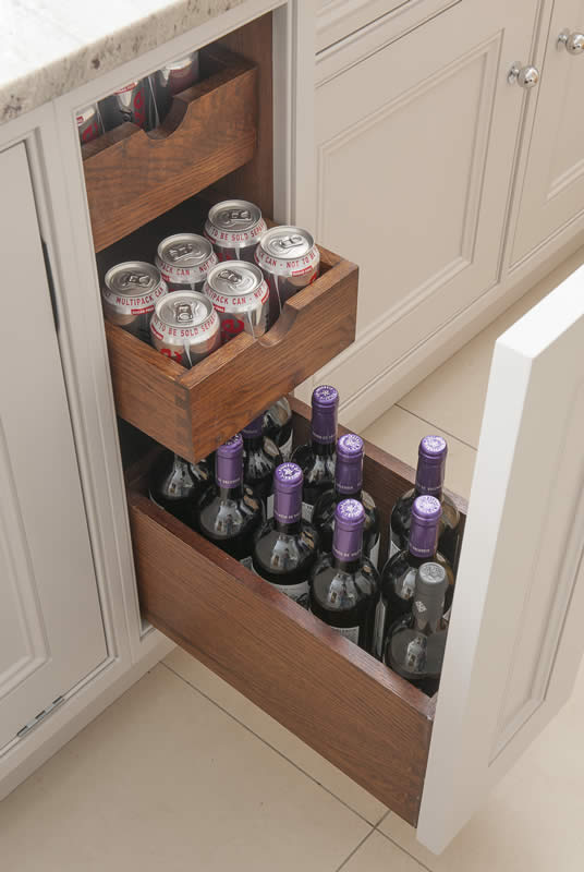 Mauves and Grey Bottle and Can Drawer