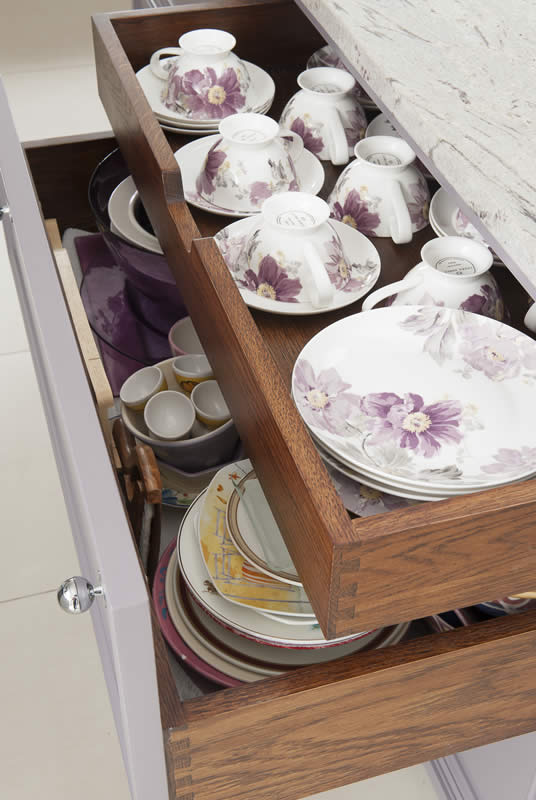 Mauves and Grey China Drawers