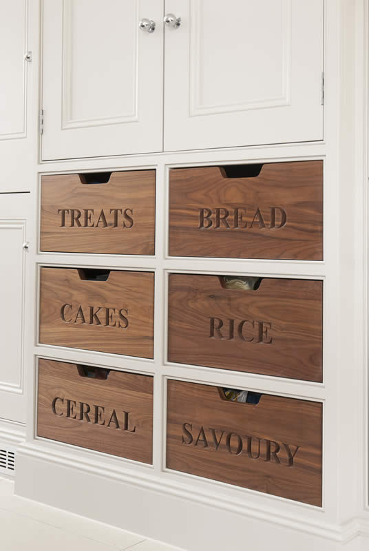 Mauves and Grey Larder Drawers